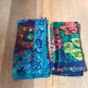 2 beautiful silk scarves- express International